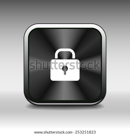 lock icon with protection key password blocked - stock vector
