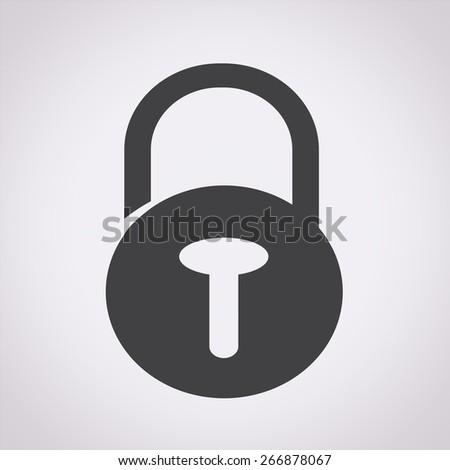 Lock security icon - stock vector