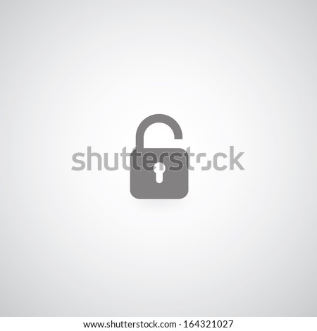 lock symbol on gray background  - stock vector