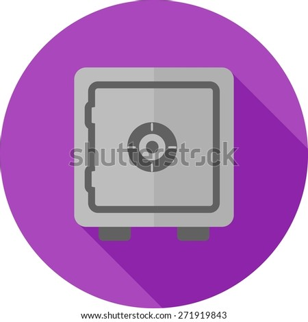 Lock, vault, safe, locker icon vector image. Can also be used for banking, finance, business. Suitable for web apps, mobile apps and print media. - stock vector