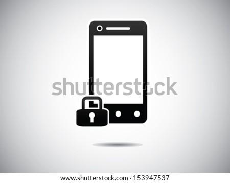 Locked Smart Phone - stock vector