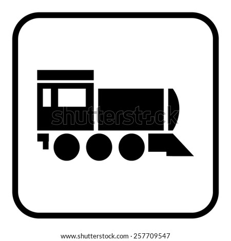 Locomotive icon . Vector illustration - stock vector