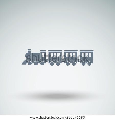 Locomotive vector icon - stock vector