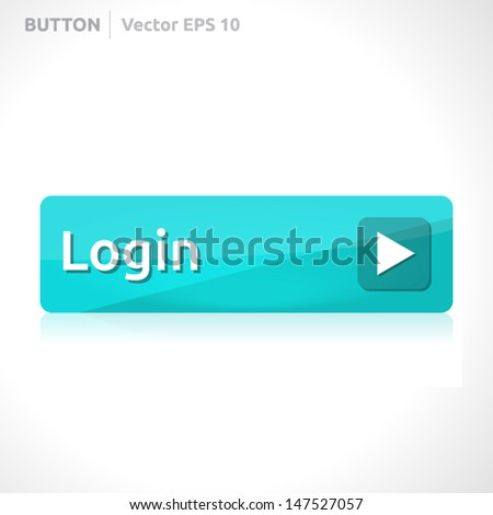 Login button template | vector design eps | business banner with symbol icon | website element | web blue - stock vector