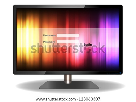 Login television of Vector Design - stock vector