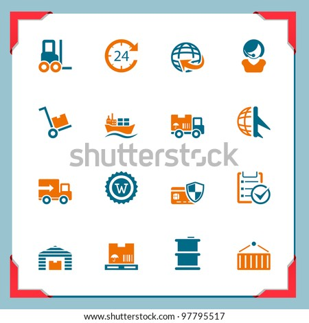 Logistic and cargo icons - stock vector