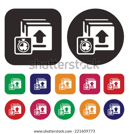 Logistic icon . Packing icon . Shipping icon - stock vector