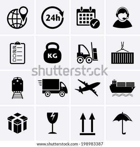 Logistics and Shipping icon - stock vector