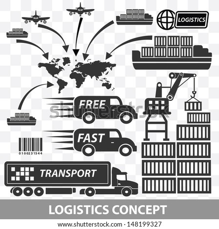 Logistics and transport icons,vector - stock vector