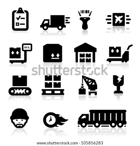 Logistics icons - stock vector