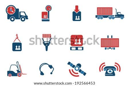Logistics icons - stock vector