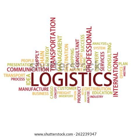 Logistics Tag Cloud, vector - stock vector
