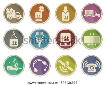 Logistics vector web icon set - stock vector