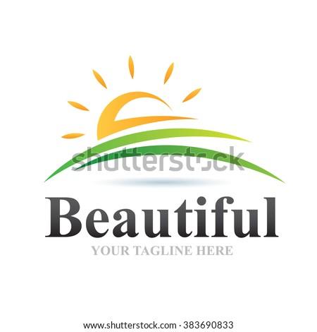 Logo Beautiful Icon Element Template Design Logos - stock vector