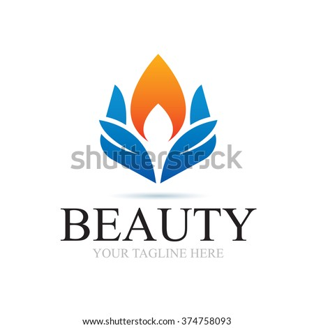 Logo Beauty In Nature Icon Element Template Design Logos - stock vector