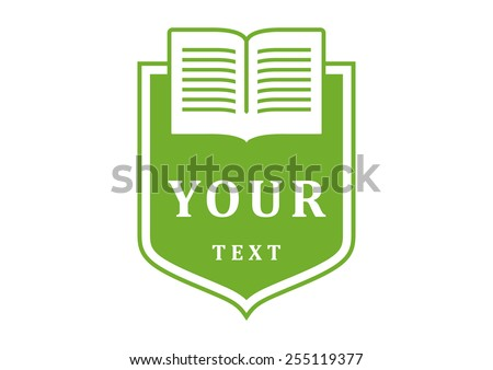 Logo. Book. Education. Blazon. Vector. Education logo. Education icon. Education symbol. Education sign. Education label. Education vector logo. Education isolated logo. Education stamp. Education. - stock vector