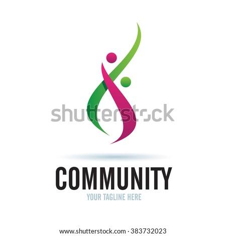Logo Community Icon Element Template Design Logos - stock vector