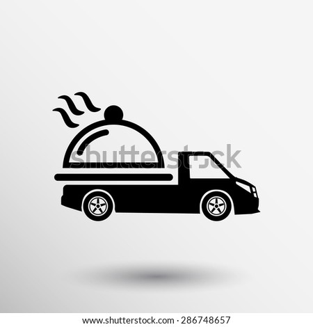 Logo Design for meal delivery service. Vector. - stock vector