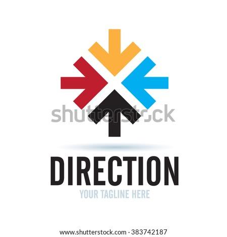Logo Direction Icon Element Template Design Logos - stock vector