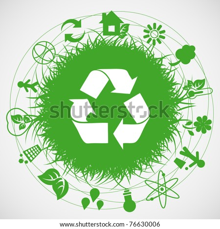Logo - Ecology earth - stock vector
