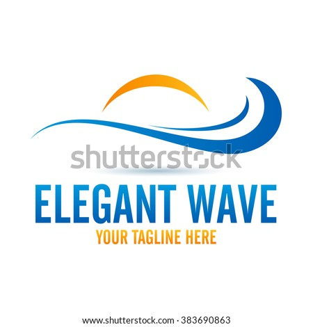 Logo Elegant Wave Icon Element Template Design Logos - stock vector