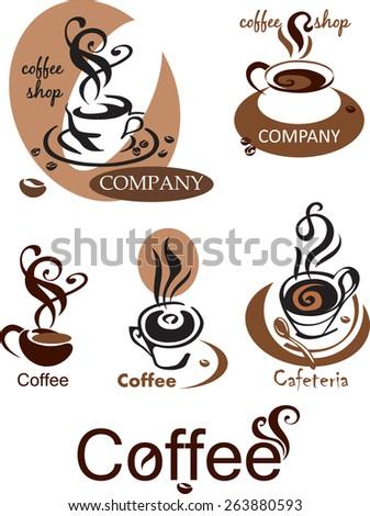 logo for coffee shop - stock vector
