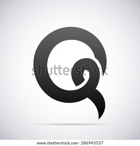 Logo for letter ...Q Letter Design
