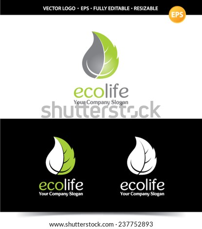 Logo for organizations to protect the environment. Template. - stock vector