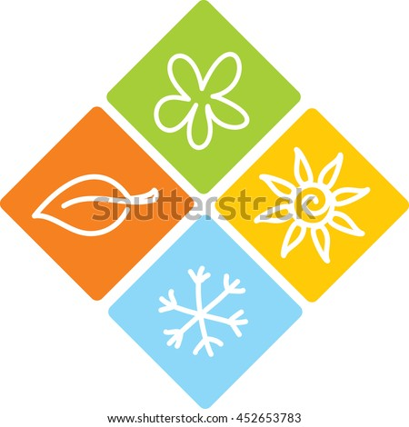 seasons icons stock photos images amp pictures shutterstock