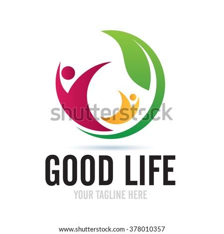 Logo Good Life Icon Element Template Design Logos - stock vector