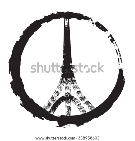 Logo icon of Eiffel tower illustration - stock vector