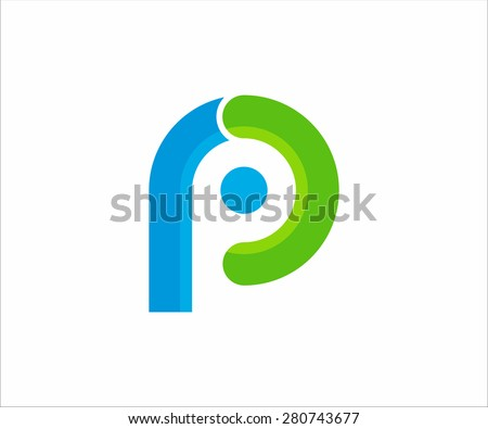 Logo letter  P. Vector design for your company. - stock vector