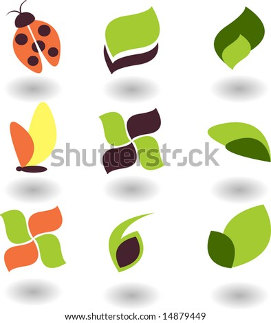 logo nature - stock vector