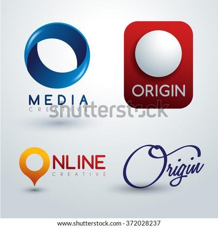 Logo O Design : Corporate Identity Logo : Vector Illustration - stock vector