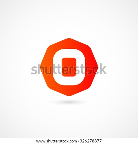 Logo O letter. Isolated on white background. Vector illustration, eps 10. - stock vector