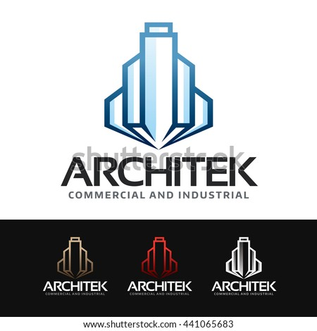 Logo of a stylized city with skyscraper and buildings. This logo is suitable for many purpose as real estate firm, construction, headquarters, office building and more. - stock vector