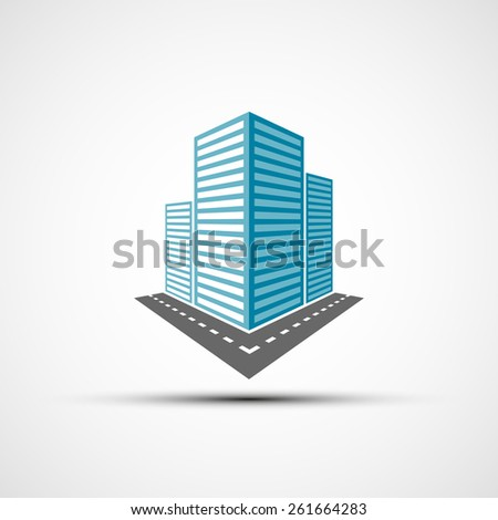 Logo of the real estate. Vector image. - stock vector