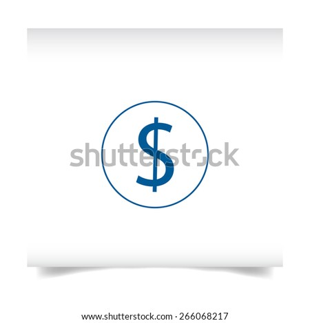 logo on a white sheet. Coin with dollar sign simple icon - stock vector