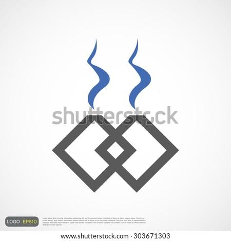 logo pipe and smoke abstract creative vector - stock vector