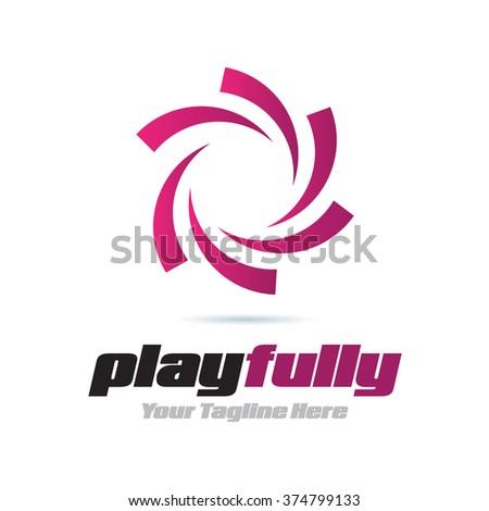 Logo Playfully Icon Element Template Design Logos - stock vector