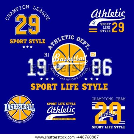 Logo sport set vector illustration - stock vector