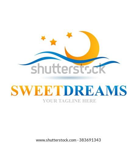 Logo Sweet Dreams Icon Element Template Design Logos - stock vector