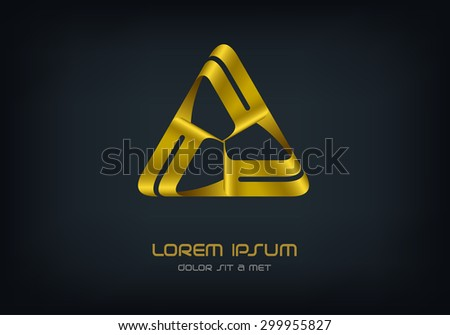 Logo Triangle business abstract vector design template, Hi tech looped infinity logotype, Vector illustration Eps 10 - stock vector