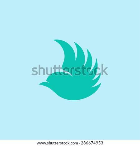 Logo. Vector. Bird. - stock vector