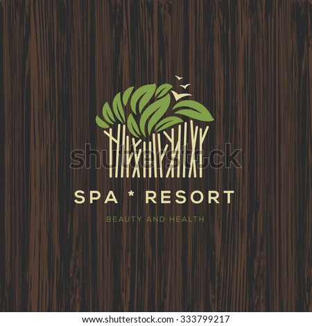 Logotype for spa resort or beauty business, logo design, vector illustration. - stock vector