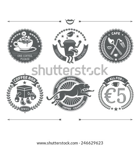 Logotypes set and Retro Vintage Insignias. Vector design elements, business signs, logos, identity, labels, badges and objects. - stock vector
