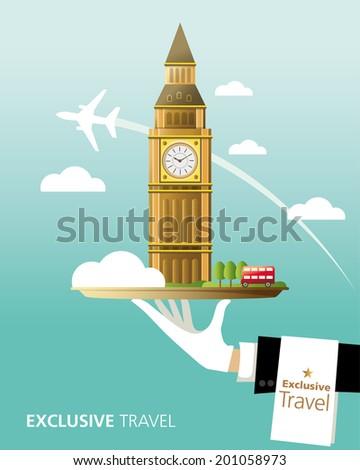 London,Big Ben,England,Exclusive,Travel,London Bus - stock vector