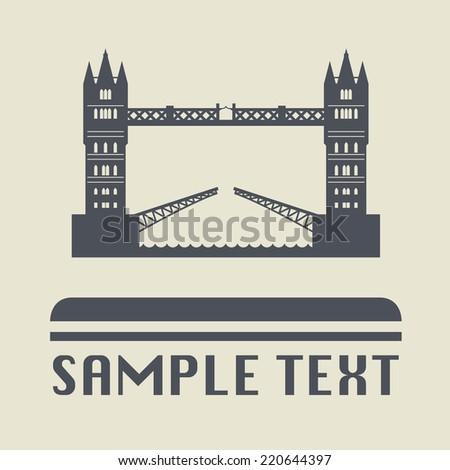 London bridge icon or sign, vector illustration - stock vector