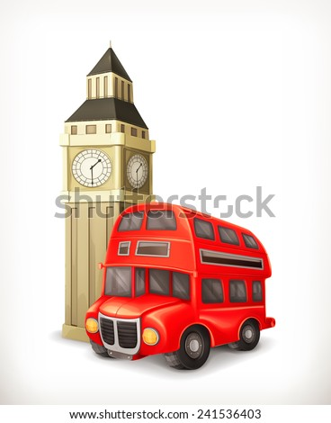 London Bus, vector illustration - stock vector