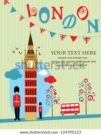 London card design. vector illustration - stock vector
